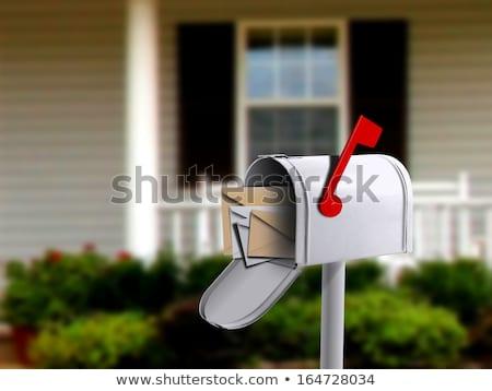 木材 メールボックス 青 壁 ビジネス ニュース ストックフォト © Witthaya