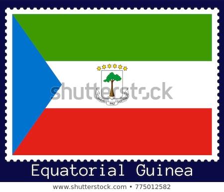 E-mail Guiné Equatorial imagem carimbo mapa bandeira Foto stock © perysty