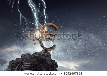 Euro · csattanás · vektor · akta · rétegek · piac - stock fotó © hauvi