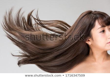gyönyörű · fiatal · nő · tökéletes · bőr · hosszú · haj · izolált - stock fotó © victoria_andreas