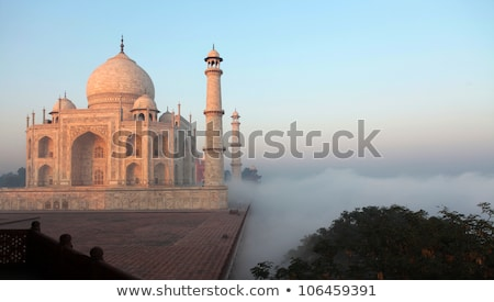 Taj · Mahal · matin · brouillard · Inde · pâle · ciel - photo stock © pzaxe
