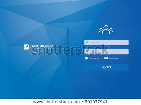 Login strona ilustracja strony kursor technologii Zdjęcia stock © vectomart
