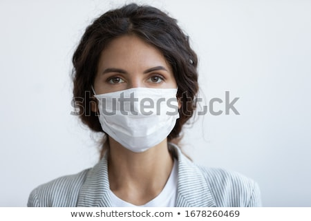 Masked lady looking at camera Stock photo © Steevy84