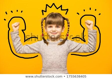 uczennica · ramię · dość · wskazując - zdjęcia stock © stockyimages