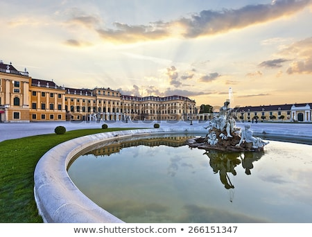 Schonbrunn palace in Vienna at sunset Stock photo © AndreyKr