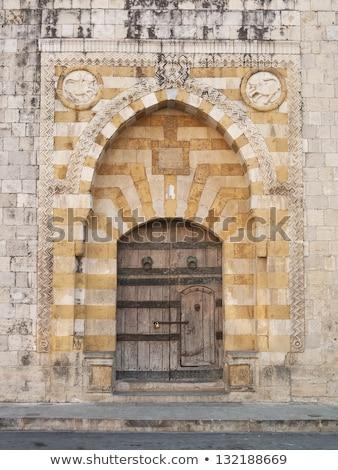 Kerk deur Libanon christelijke architectuur Stockfoto © travelphotography