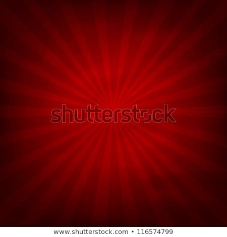 sunburst in fire red Stock photo © SSilver