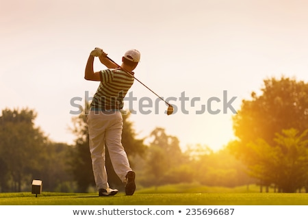 jovem · feminino · jogador · de · golfe · golfe · balançar · mulher - foto stock © val_th