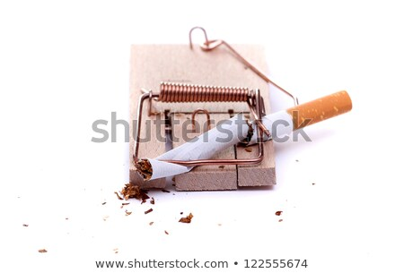 Cigarette In Mousetrap Stock fotó © pterwort