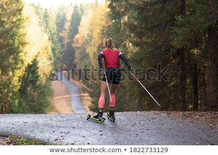 roller skiing Stock photo © val_th