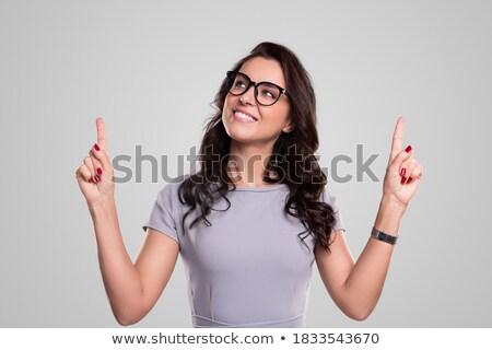 Mujer de negocios pie mirando directamente negro fotos Foto stock © wavebreak_media
