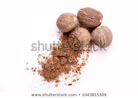 Three whole nutmeg Stock photo © sarahdoow