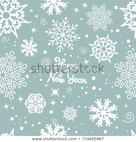 silhouette of a girl with snowflakes stock photo © lenm