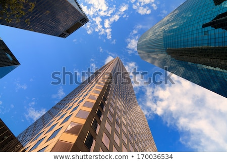 Хьюстон центра Небоскребы Blue Sky зеркало отражение Сток-фото © lunamarina
