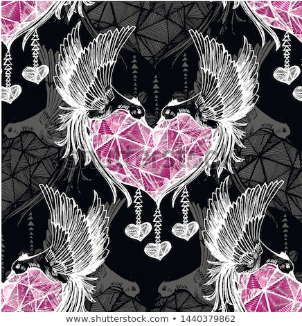 Różowy miłości krople serca biały papieru Zdjęcia stock © romvo