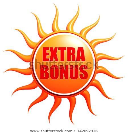 夏 余分な ボーナス 3D 太陽 ラベル ストックフォト © marinini