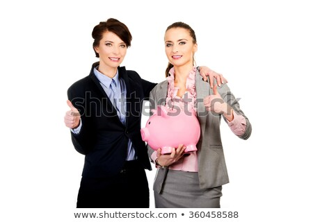 two businesswoman portrait isolated on white stock photo © lunamarina