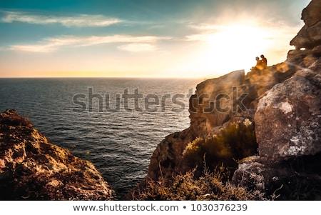 plaj · ahşap · ahşap · doğa - stok fotoğraf © nito