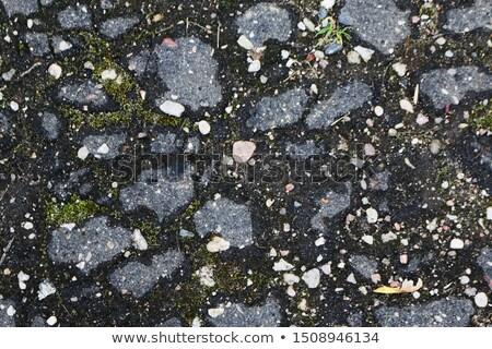 Starych zapomniany drogowego śmieci kamień Zdjęcia stock © vavlt