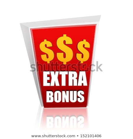 extra bonus red banner with dollars signs Stock photo © marinini