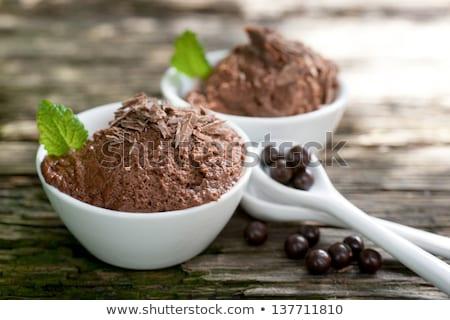 Csokoládé hab hozzávaló üveg csokoládé tojás háttér Stock fotó © M-studio