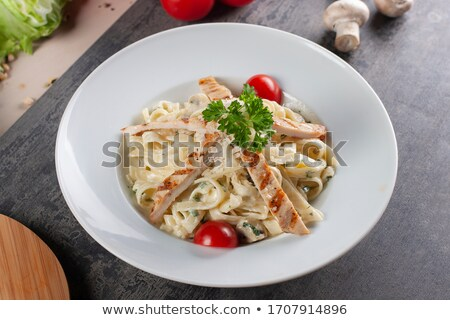 tagliatelle and chicken Stock photo © nito