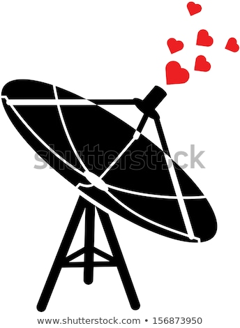 Satellite Communicating By Emitting Hearts Of Love Foto stock © zooco