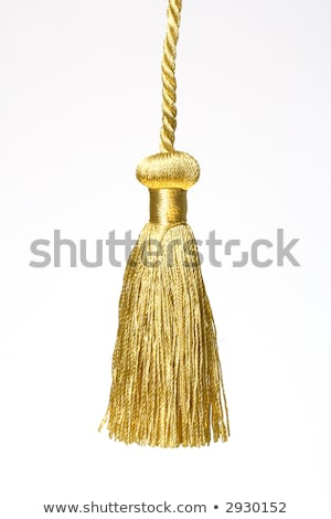 golden knot top tassel isolated on white background Stock photo © inxti