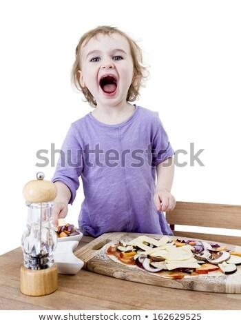 кричали ребенка свежие пиццы Сток-фото © gewoldi