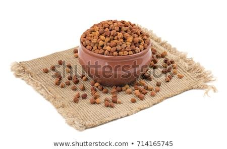 Chick chícharos tazón fondo tela plato Foto stock © raphotos