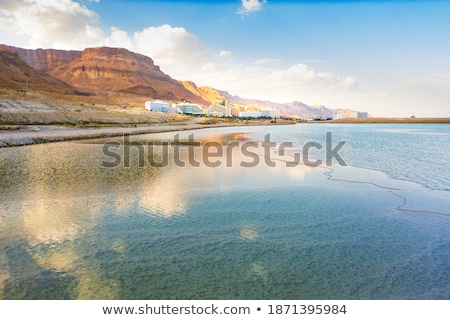 sal · mar · morto · Israel · branco · rochas · água-marinha - foto stock © rglinsky77