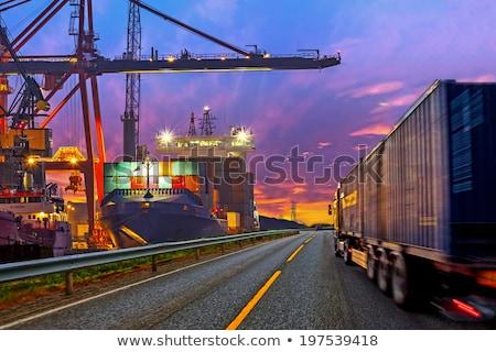 Foto d'archivio: Camion · contenitore · forma · isolato · percorso · auto