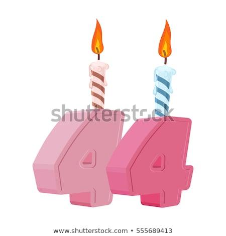 Burning birthday candles number 44 Stock photo © Zerbor
