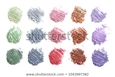 Crushed color eyeshadows isolated on white Stock photo © tetkoren