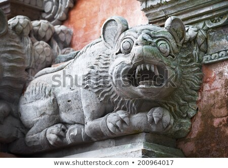 Hayvan gibi köpek duvar tapınak bali Stok fotoğraf © pzaxe