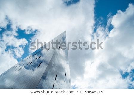 gökdelen · New · York · mavi · gökyüzü · ABD · 2010 - stok fotoğraf © meinzahn