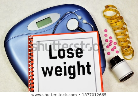 folders with the label diet and fitness stock photo © zerbor