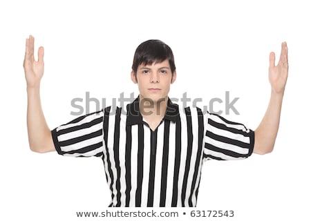 homem · árbitro · uniforme · assinar - foto stock © dgilder