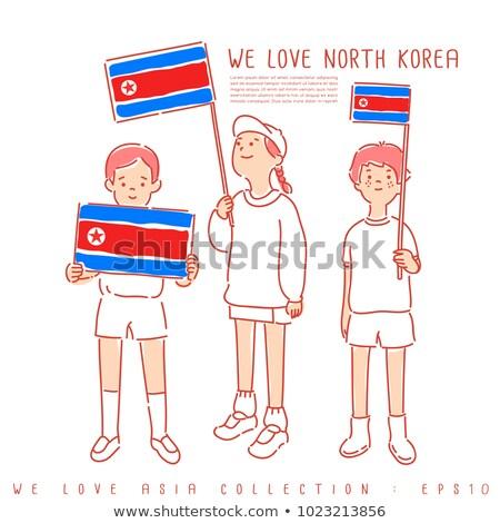 North Korea flag themes idea design Stock photo © kiddaikiddee