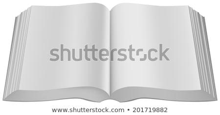 Open big book paperback limp binding Stock photo © orensila