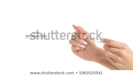 Nail and cuticle oil isolated on white Stock photo © gsermek