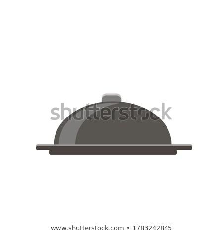 El kapalı Metal kubbe pişirme simgeler Stok fotoğraf © Winner
