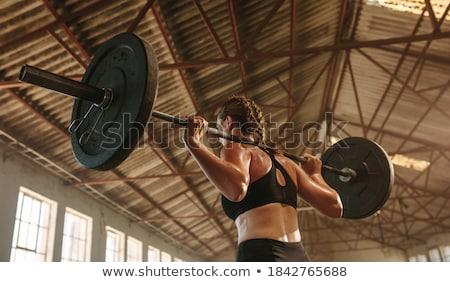 vrouw · gespierd · torso · geschikt · spieren - stockfoto © nobilior