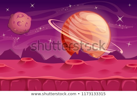 alien mountains with space background stock photo © ankarb