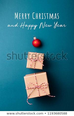 karácsony · bannerek · mosoly · tél · játék · retro - stock fotó © enlife