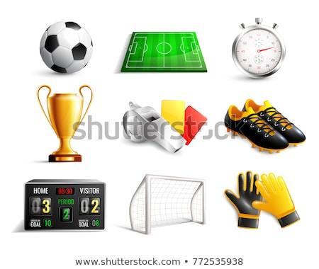 Football sifflement 3D généré photos Photo stock © flipfine