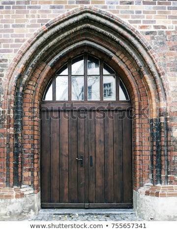 антикварная · шаблон · коричневый · двери - Сток-фото © taviphoto