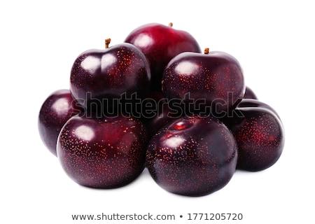 Blue plums in colander Stock photo © pixelman