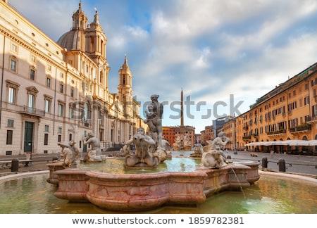 ローマ · イタリア · 像 · 文化 · 噴水 · 彫刻 - ストックフォト © dserra1