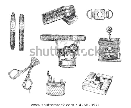 Isolated cigar with cutter Stock photo © njnightsky